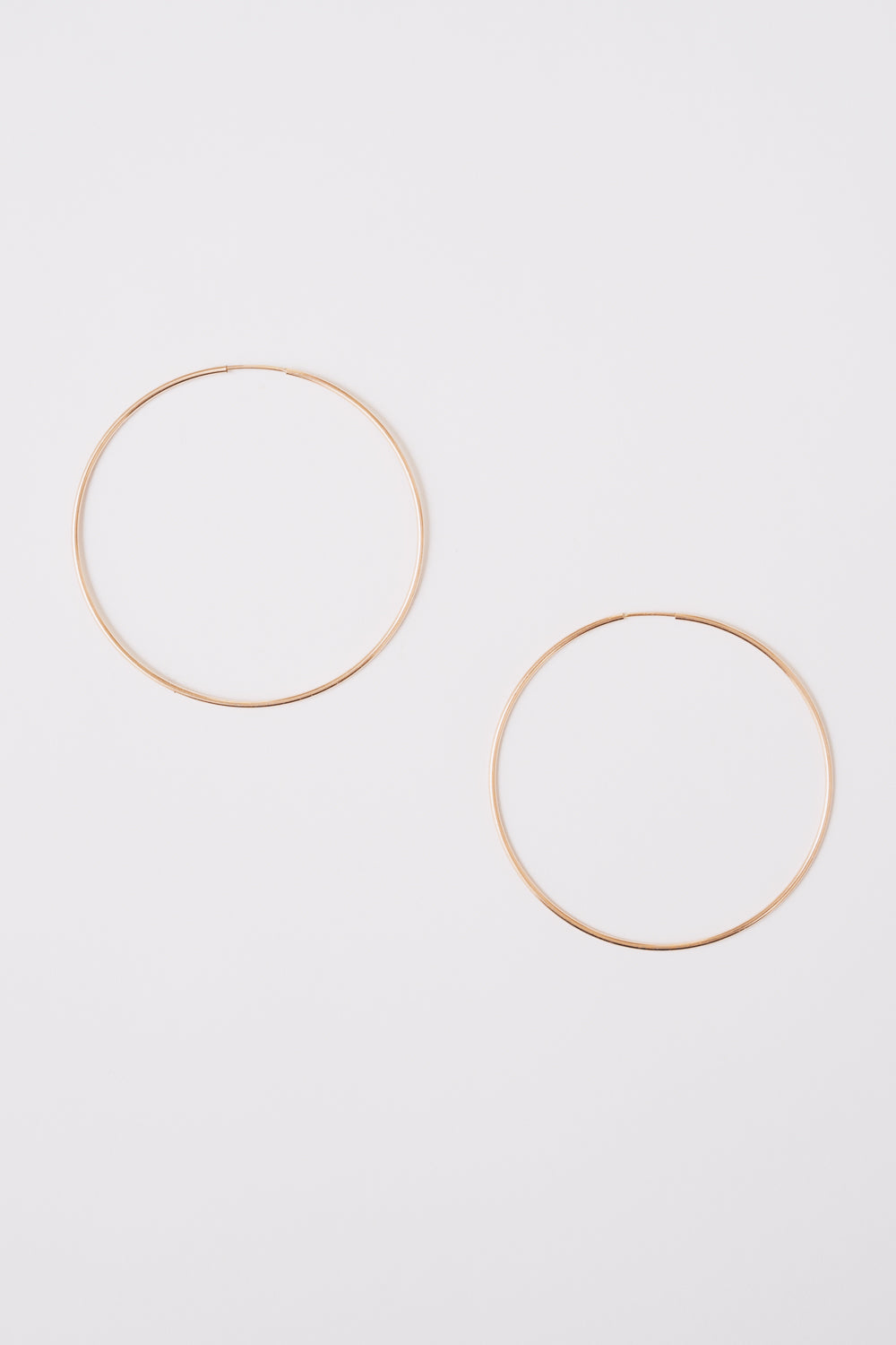 lightweight thin tubing 14k gold fill hoop earrings