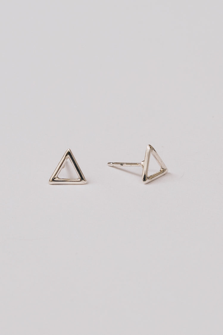 Pierra Triangle Earrings | Sterling Silver | Janna Conner