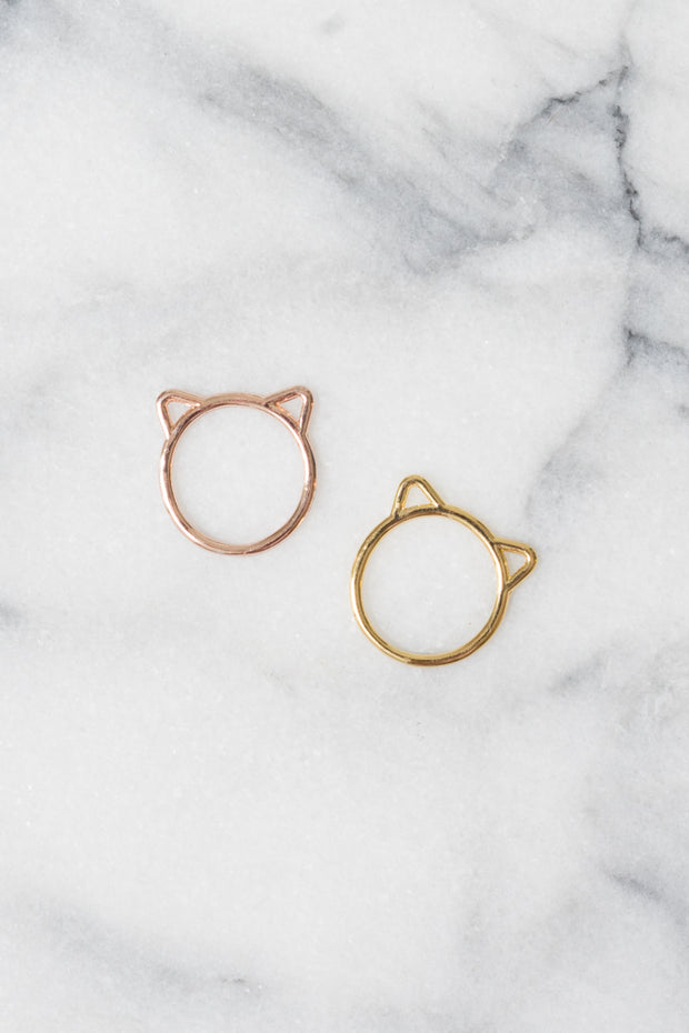 Kitty Ring | 18k Gold Plating | Janna Conner