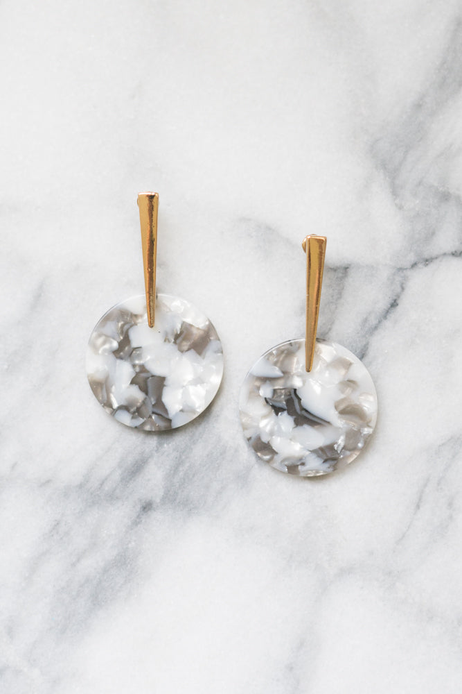 Peg Statement Earrings | Blush Acrylic | Janna Conner