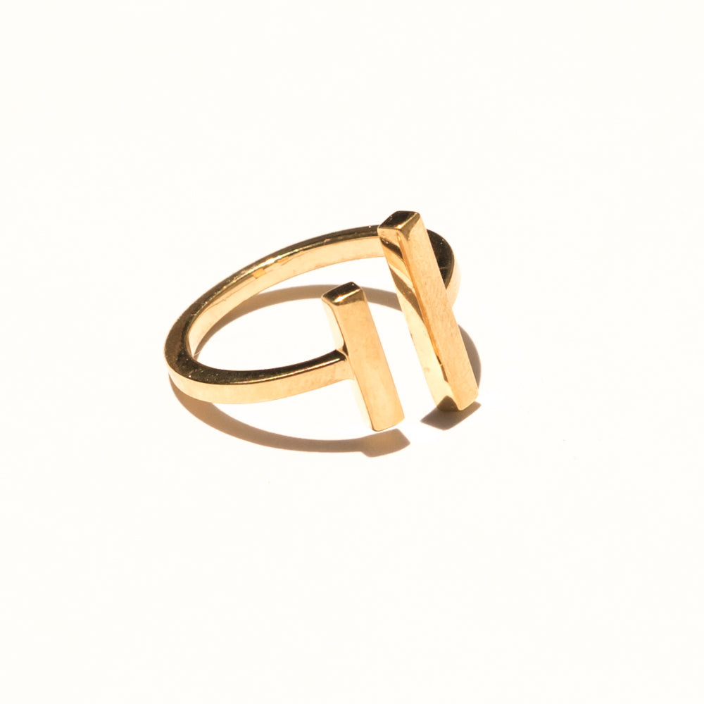 Everly Bar Open Ring | Bronze | Janna Conner