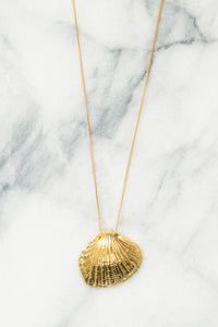 Seashell Necklace | 18k Gold Plating | Janna Conner | Sale