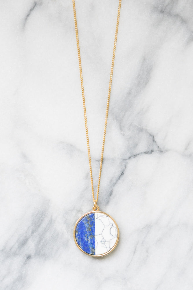 Lindo Necklace | Lapis and White Howlite | 18k Gold Plating | Janna Conner
