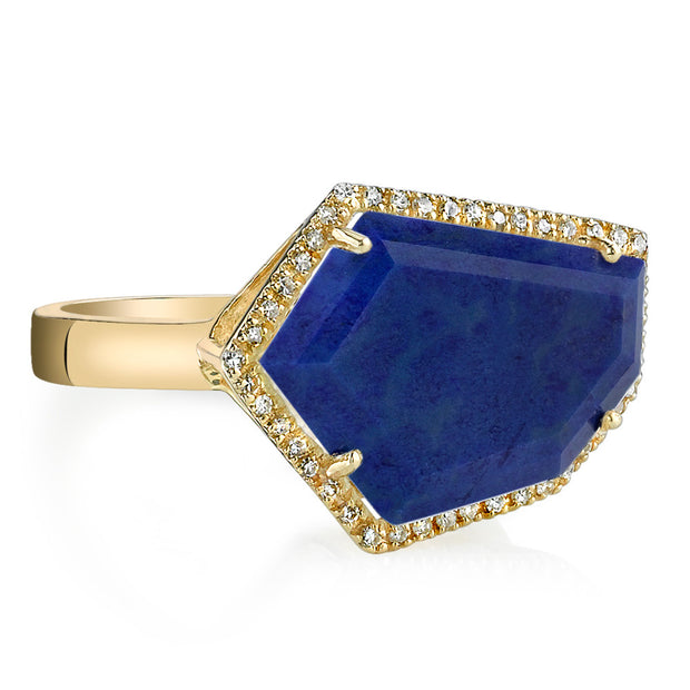 Lapis Cubist Ring | 14K Gold | Janna Conner | Sale