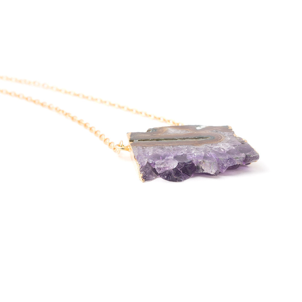6144N Yori Necklace in Amethyst | 18k Gold Plating | Janna Conner