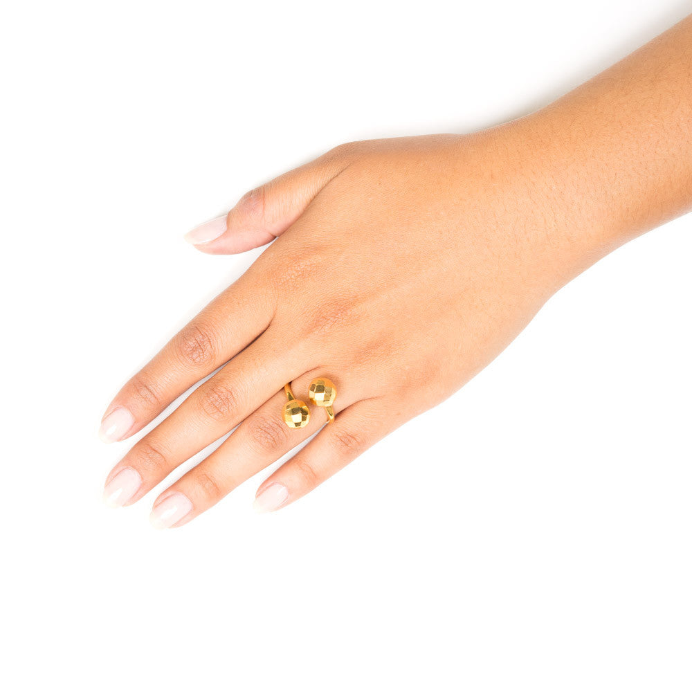 Milka Gold Disco Ball Ring | 18k Gold Plating | Janna Conner | Sale
