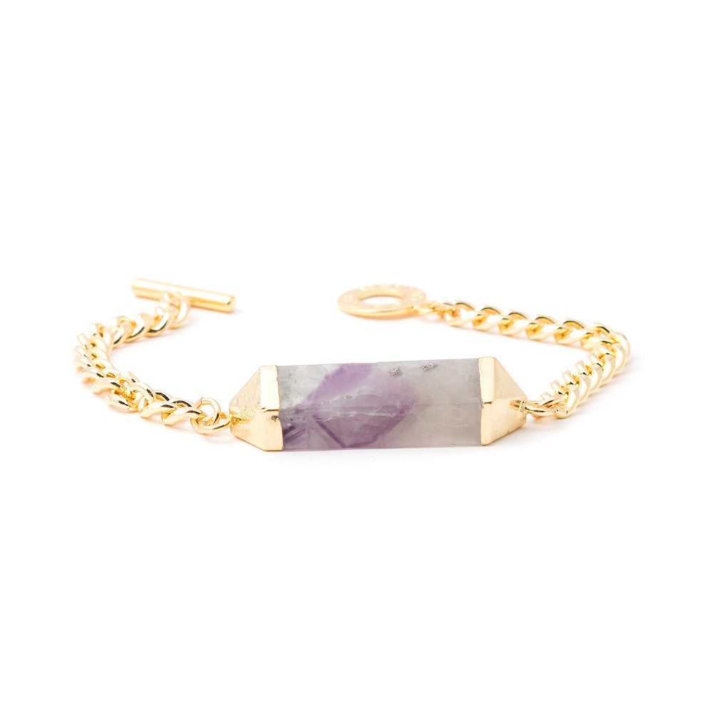 6476B Nieve Bracelet in Purple/Green Fluorite