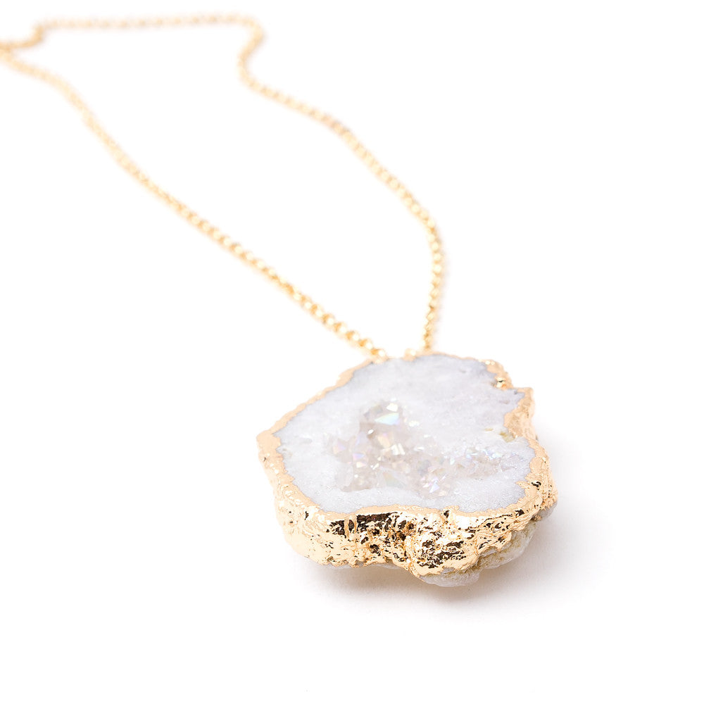 Nuala Necklace in Crystal Druzy | 18k Gold Plating | Janna Conner