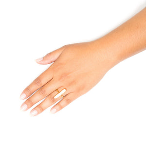 Gianna Ring | Keshi Freshwater Pearl | 18k Gold Plating | Janna Conner