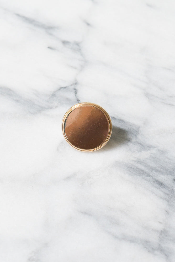 Emmanuelle Signet Ring | 18k Gold Plating | Janna Conner
