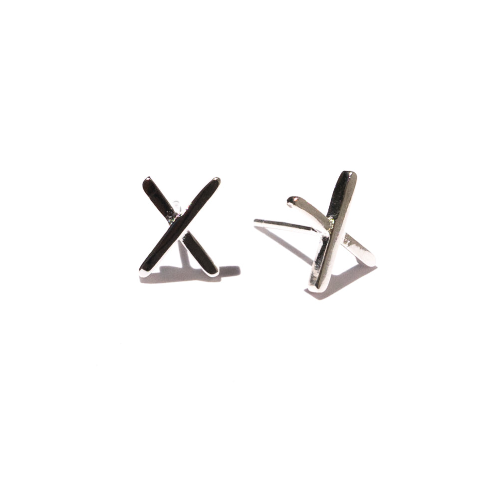 X Earrings | Sterling Silver | Janna Conner