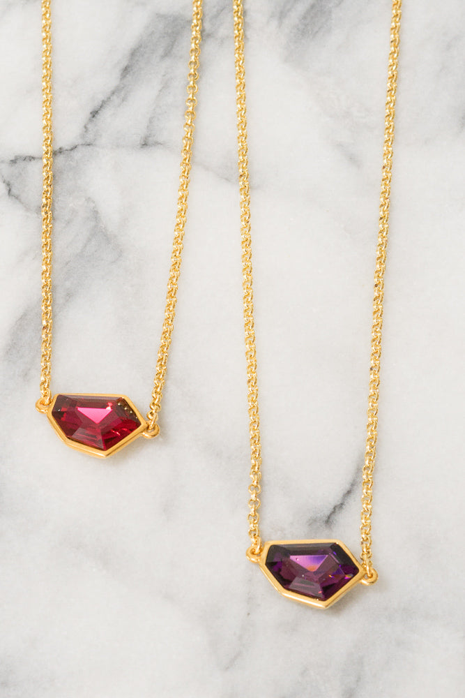 Christa | Swarovski Crystal Necklace | 18k Gold Plating | Janna Conner