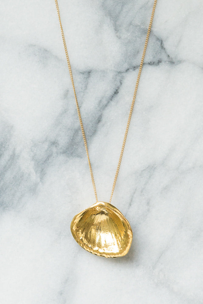 Seashell Necklace | 18k Gold Plating | Janna Conner
