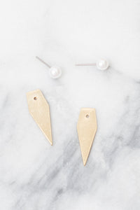 Selene Pearl Ear Jacket Earrings | 18K Gold Plating | Janna Conner