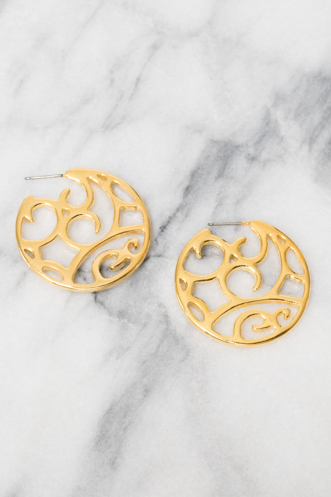 Tania Hoop Earrings | 18k Gold Plating | Janna Conner