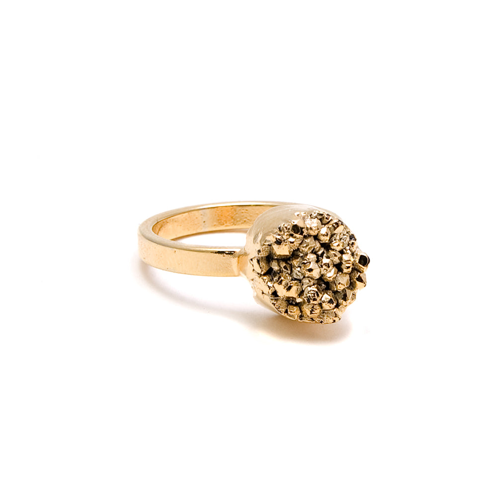 Gold Druzy Ring | 18k Gold Plate | Janna Conner
