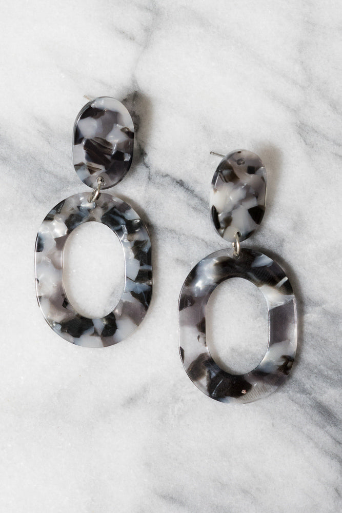 Petite Larrimore Statement Earrings | Multicolored Acrylic | Janna Conner