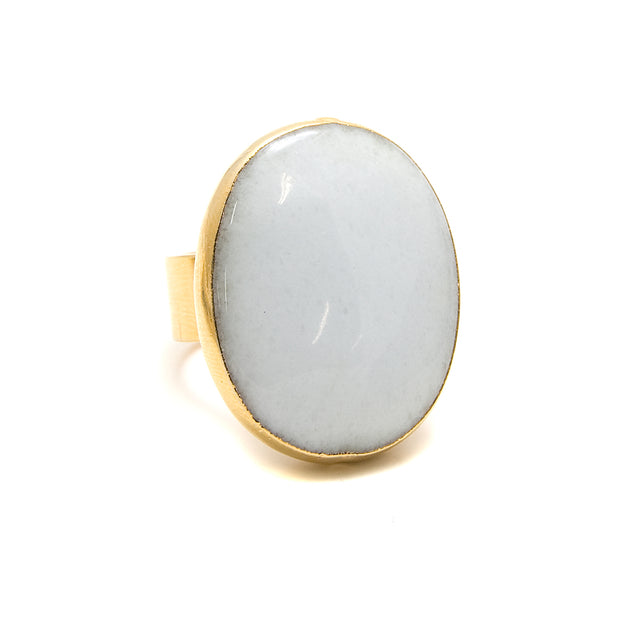 white cocktail ring