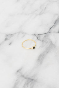 black gold stacking ring