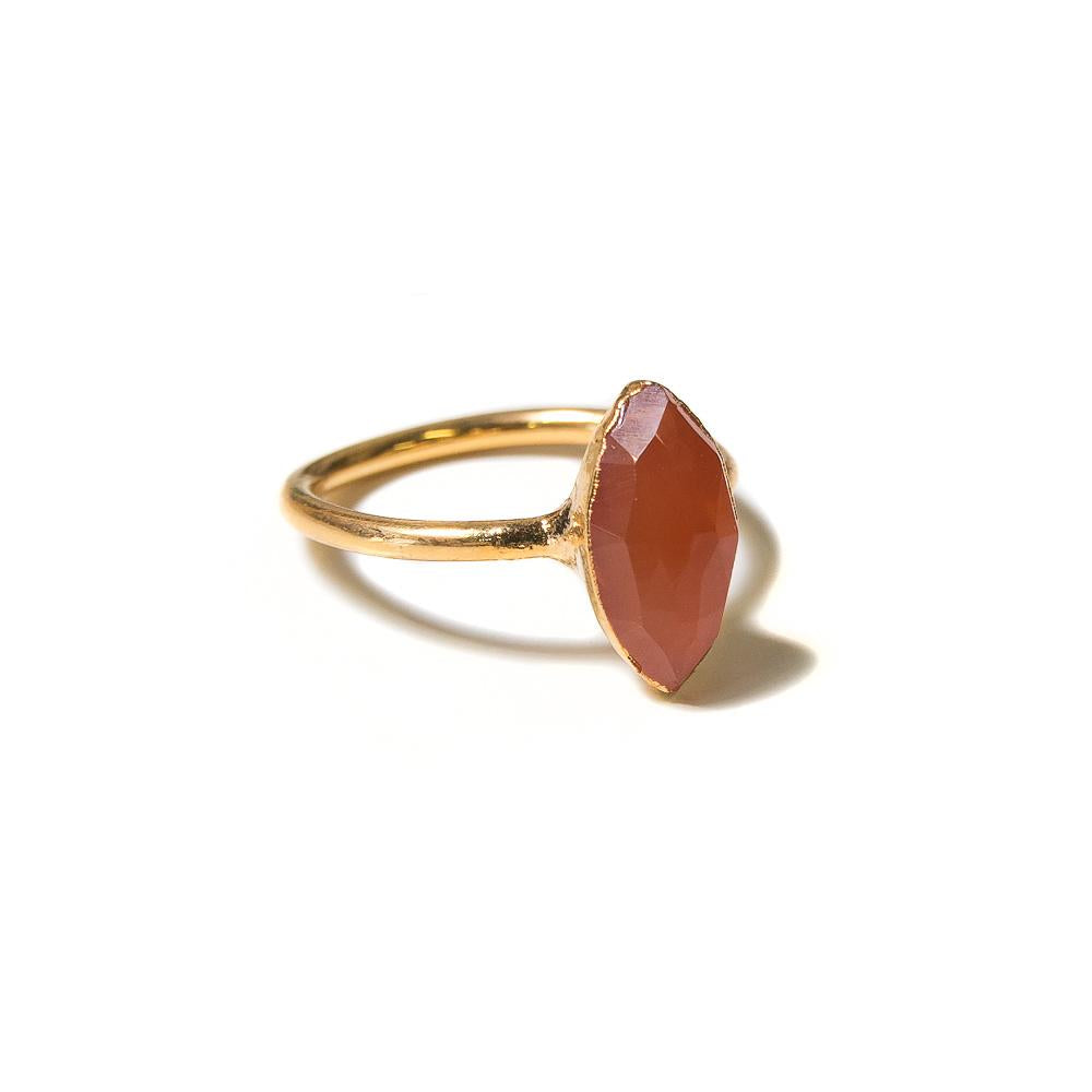 orange marquis stacking ring