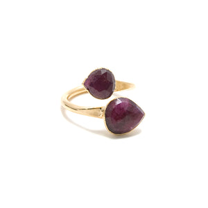 ruby gemstone wraparound ring