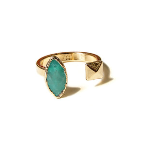 chrysoprase marquis open ring