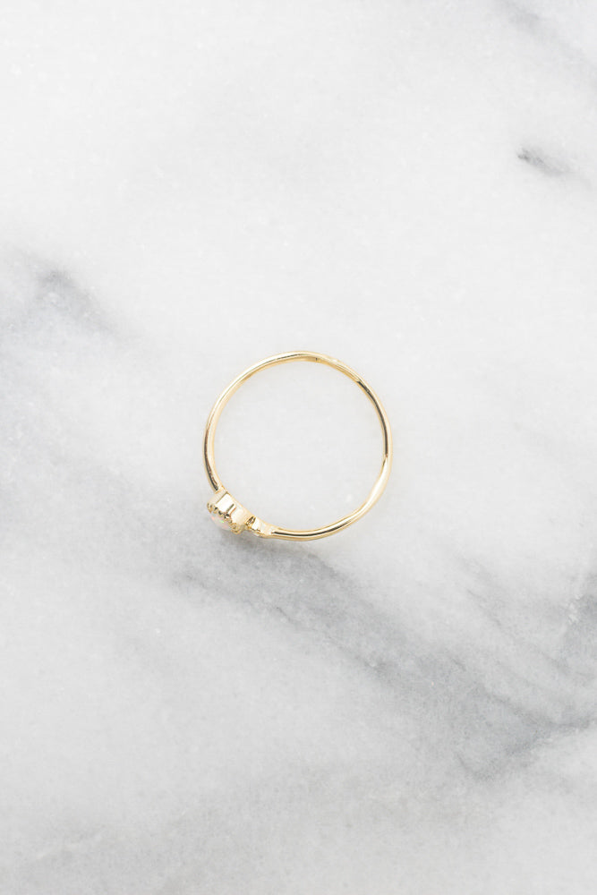 gold opal stacking ring