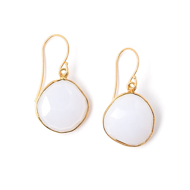 Chalcedony Drop Earrings | 18k Gold over .925 Silver | Janna Conner | Sale