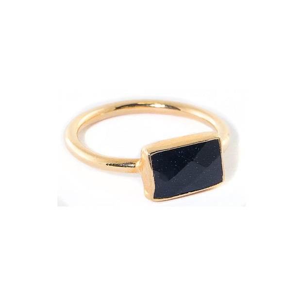 onyx rectangle stacking ring