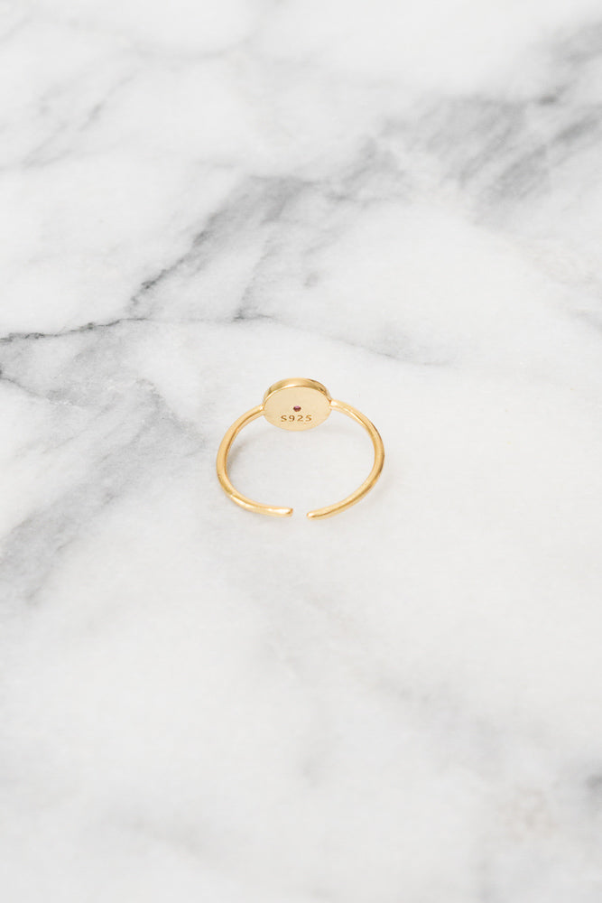 Ardi Mini Signet Ring | .925 Silver | 18k Gold Plating | Janna Conner