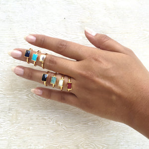 rectangular stacking rings on model