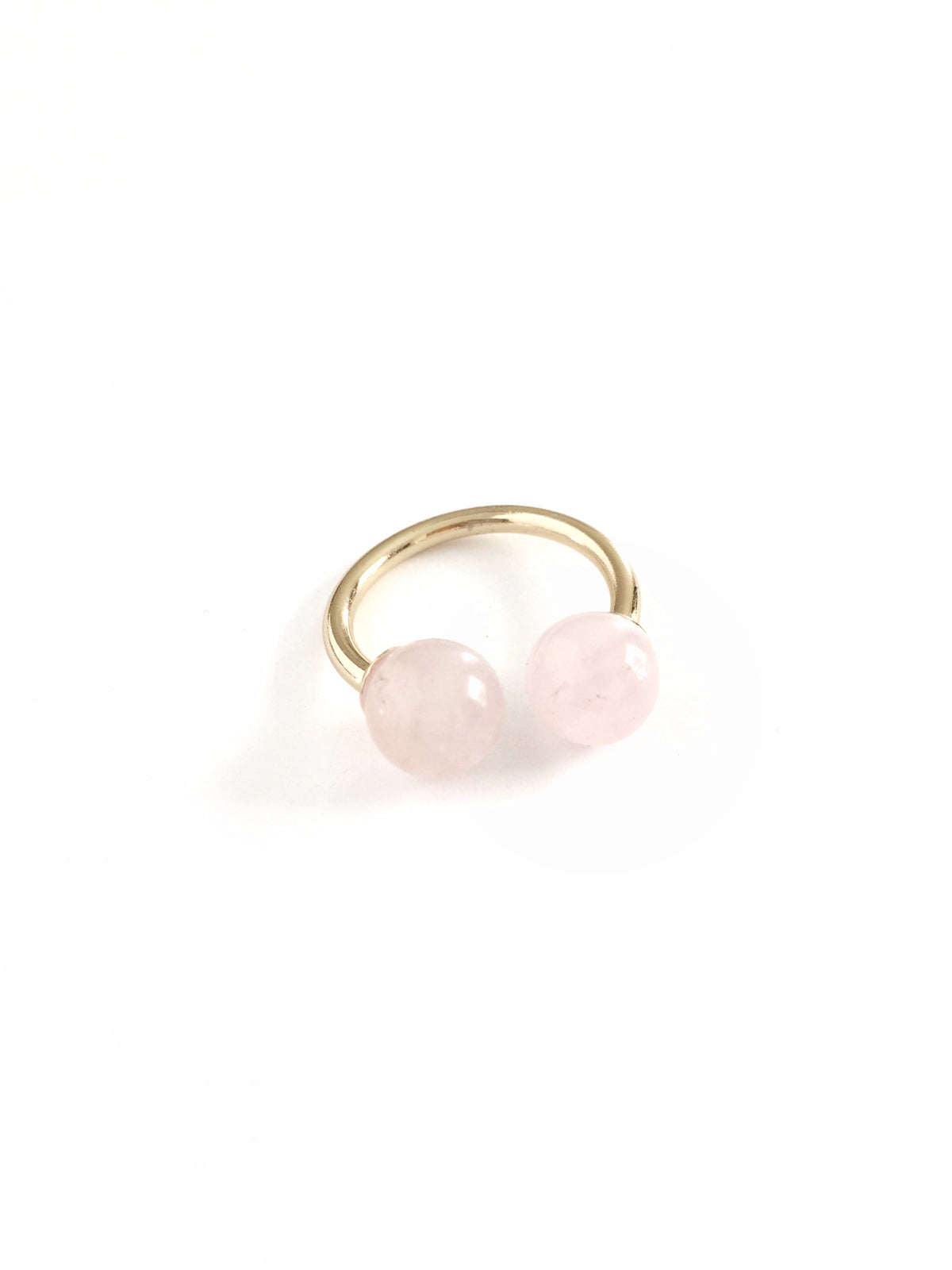 rose quartz thibaut ring by janna conner