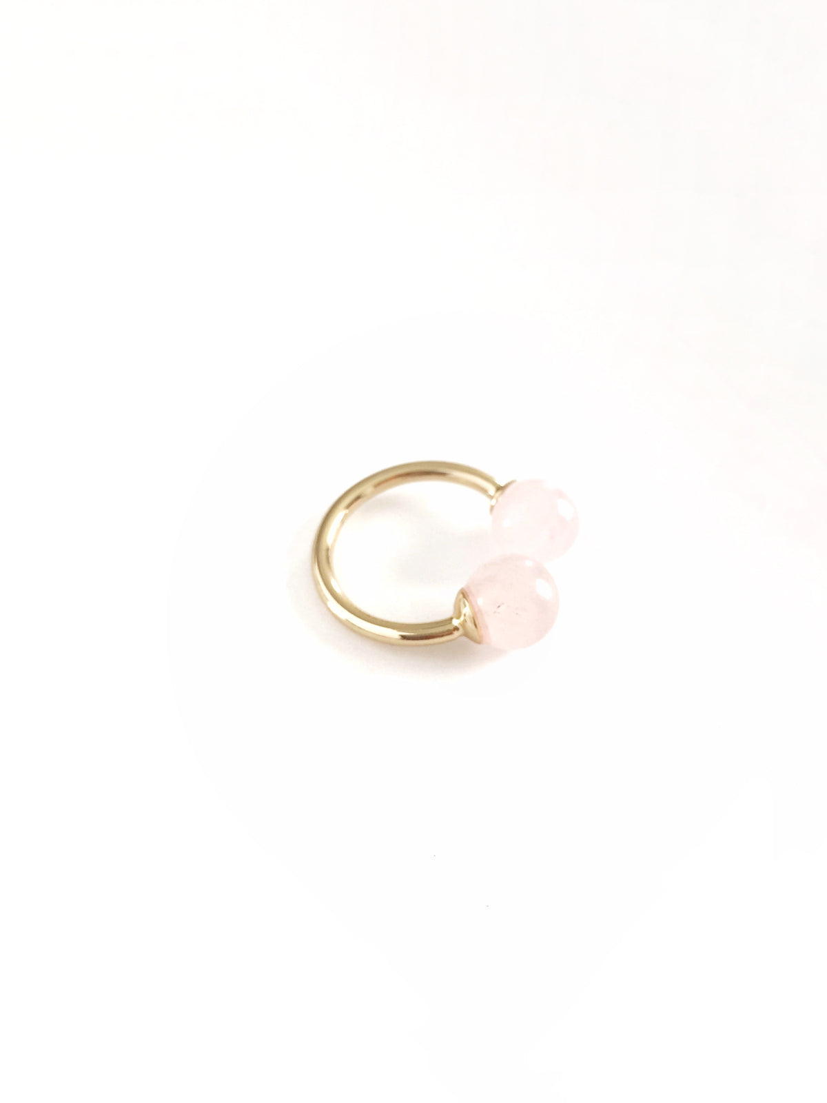 Thibaut Open Stacking Ring | Pearl | 18k Gold Plating | Janna Conner