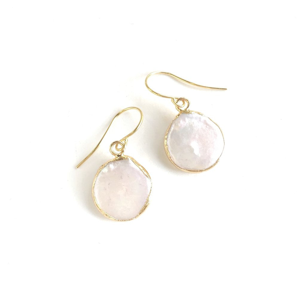 Hubie Earrings | Freshwater Pearl | 18k Gold Plating | Janna Conner