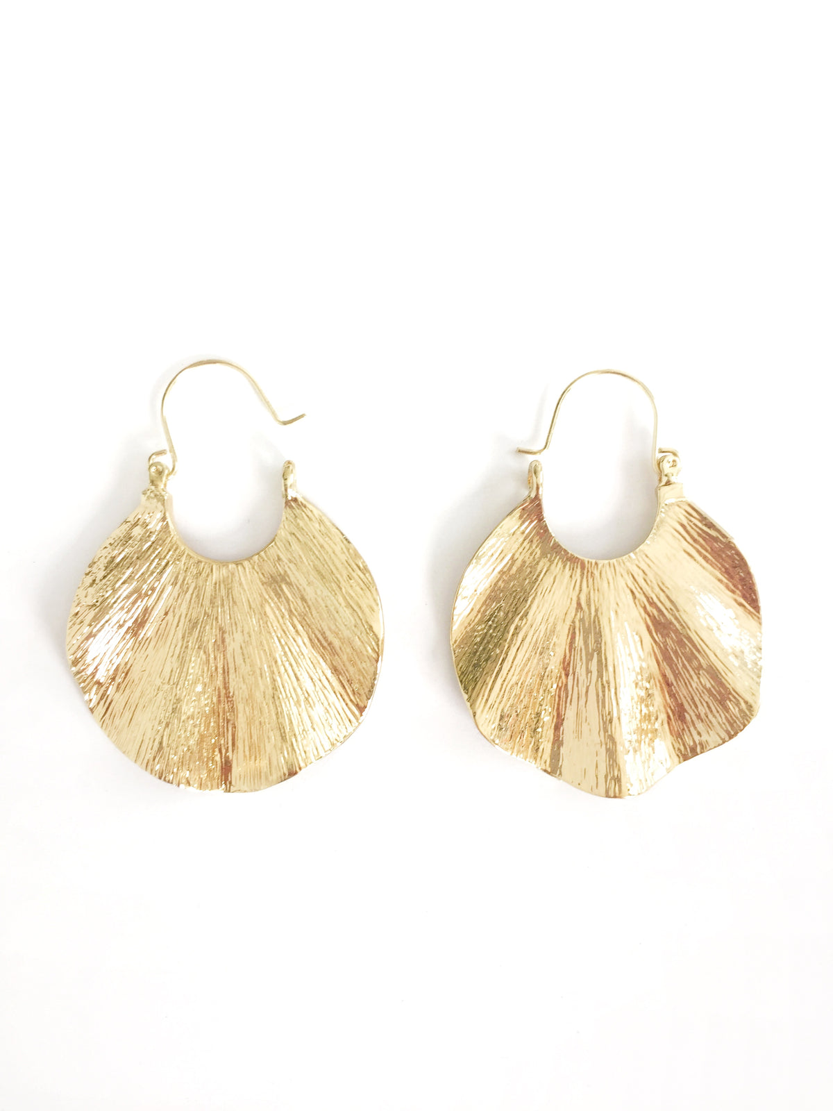 gold boho hoop earrings