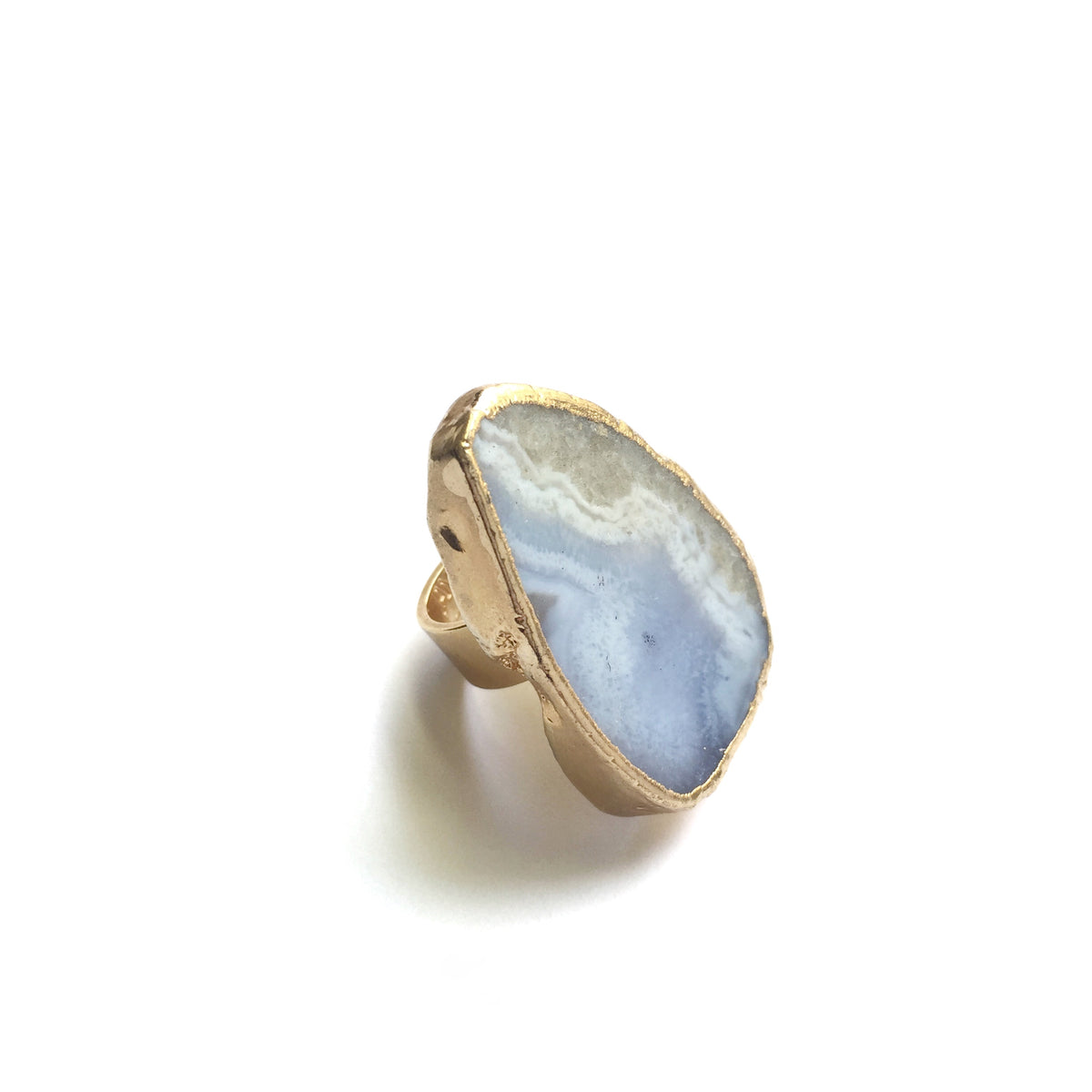 blue lace agate statement ring