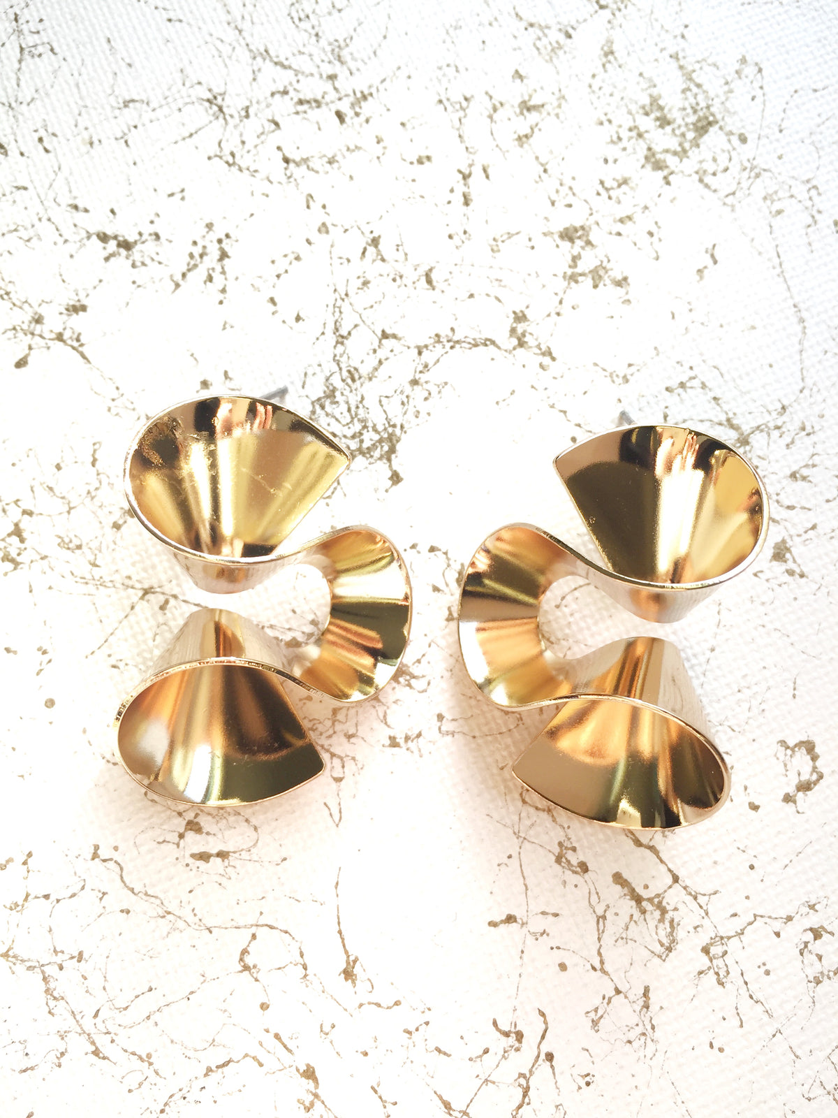 Accordion Fan Earrings | 18k Gold Plating | Janna Conner