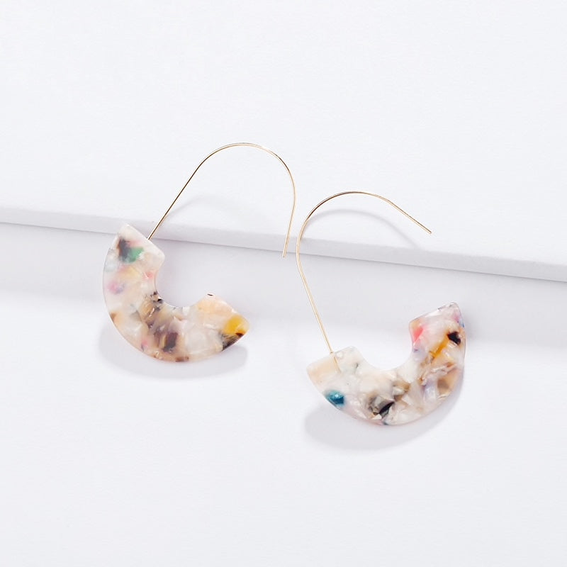 multi color acrylic hoop earrings