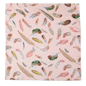 Marlan Scarf | Blush Feather Print | Janna Conner