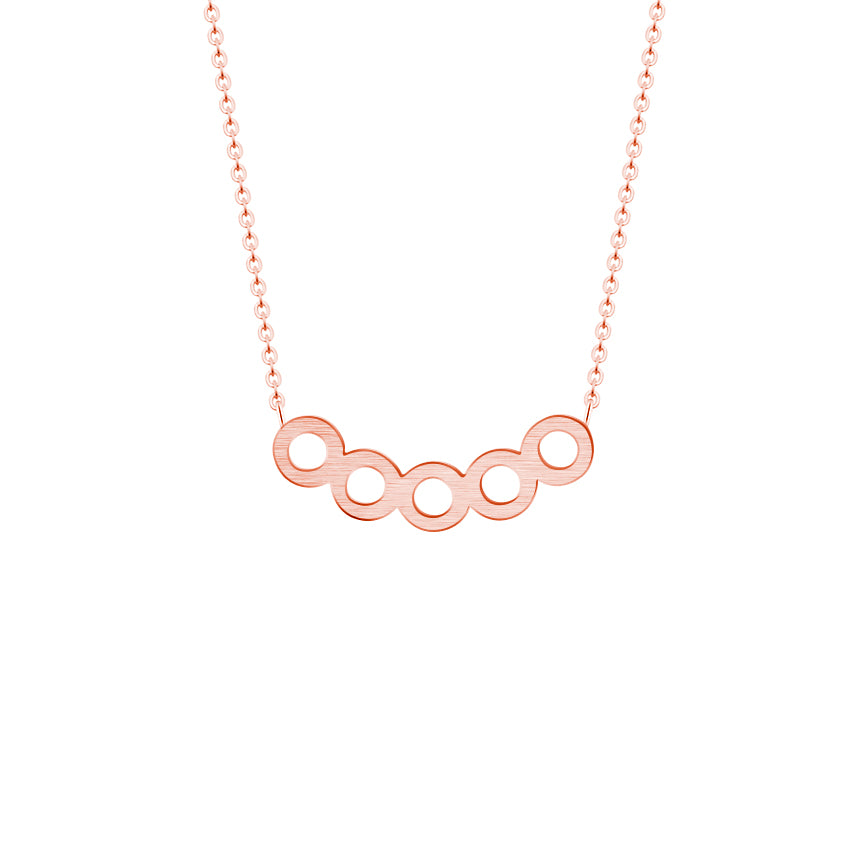 Cathal Minimal Circle Necklace | 18k Gold Plating | Janna Conner