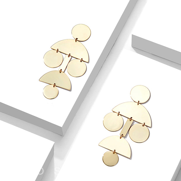 Cristabel Geometric Chandelier Earrings | 18k Gold Plating | Janna Conner