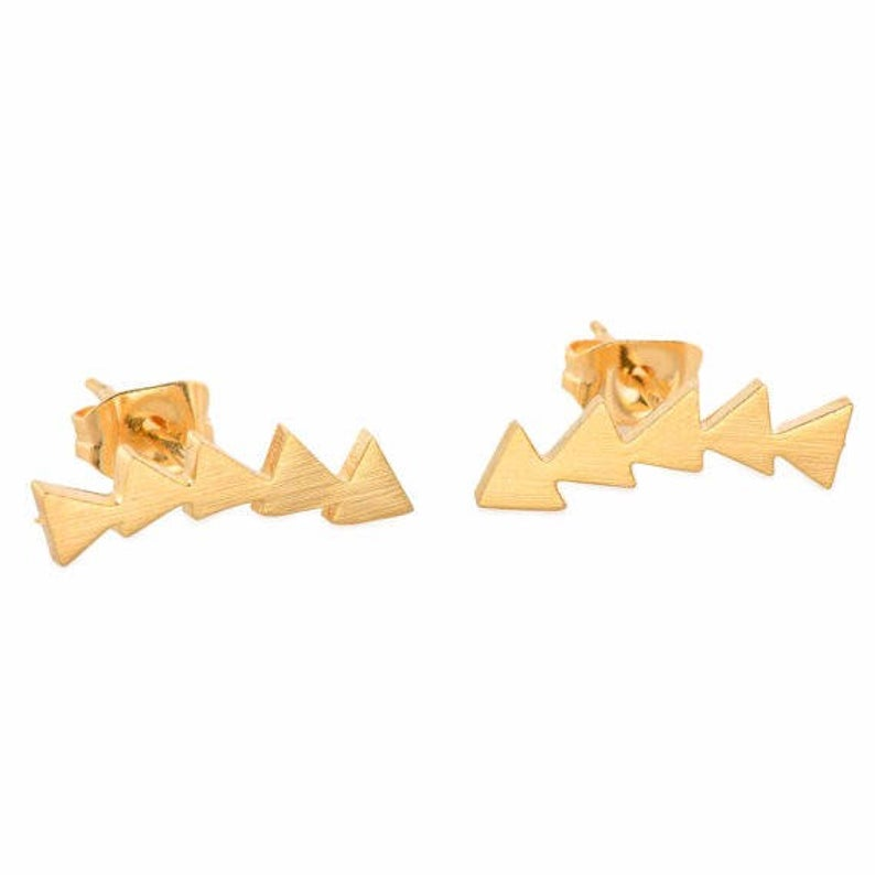 yellow gold stainless steel ear climbers