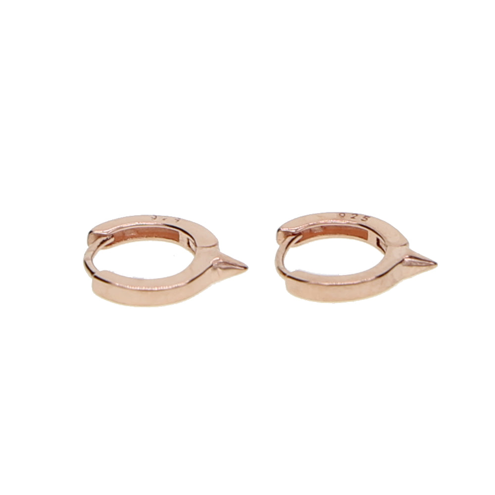 Lita Spike Huggie Hoop Earrings | 18k Gold Plating | Janna Conner