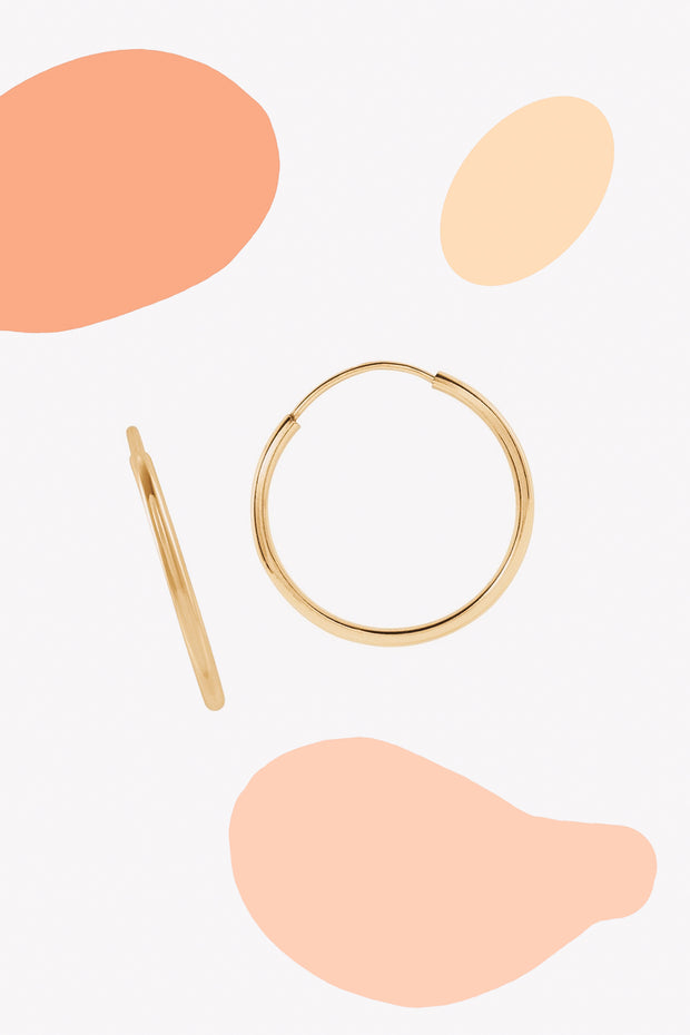 Endless Hoop Earrings | 14K Gold | Janna Conner