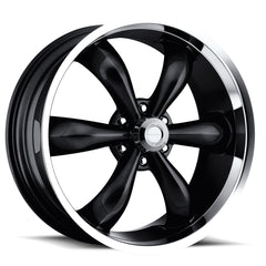 Vision Wheels 142 Legend 6 Black Machined Lip