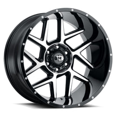 Vision Wheels 360 Sliver Black Machined