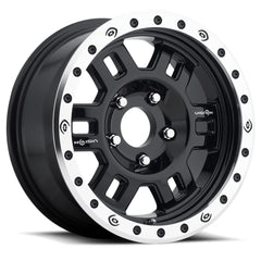 Vision Wheels 398COMP Black Machined Lip