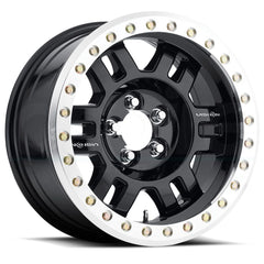 Vision Wheels 398 Manx Black Machined Lip