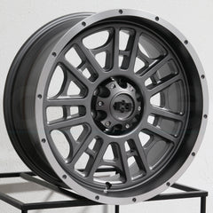 Vision Wheels 418 Widow Grey Machined Lip