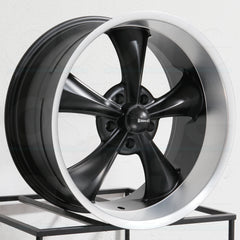Ridler Wheels 695 Matte Black Machined Lip